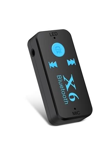 Jacobson X6 Mikrofonlu Bluetooth MikroSD Kart MP3 Aux Araç Kiti Siyah